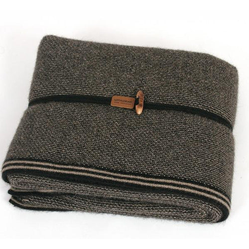 Black / Natural Midweight Blanket
