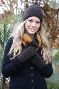 Brown Marl Plain Beret