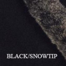 Load image into Gallery viewer, Black/Snowtip Fur Trim Gloves