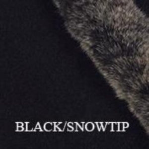 Black/Snowtip Fur Trim Gloves