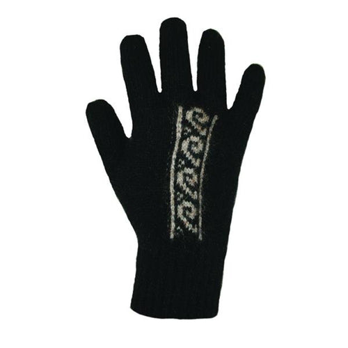 Black/Natural Koru Gloves