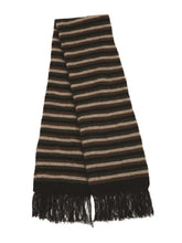Load image into Gallery viewer, Black Multi Striped Scarf