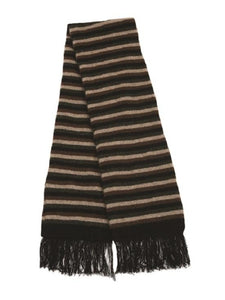 Black Multi Striped Scarf