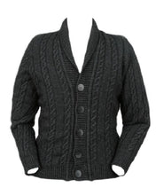 Load image into Gallery viewer, Charcoal Men's Cable Button Jacket