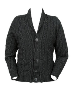 Charcoal Men's Cable Button Jacket