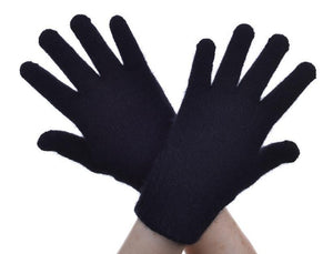 Black Plain Gloves