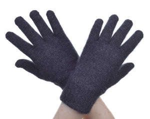 Charcoal Plain Gloves