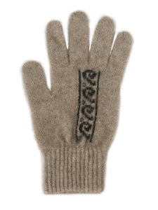 Natural/Black Koru Gloves