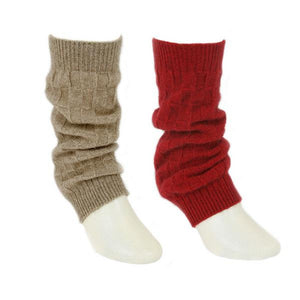 Natural and Red Leg Warmers