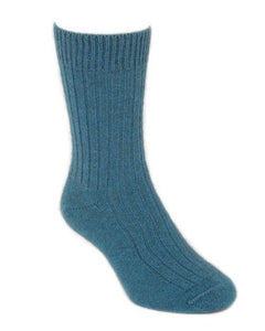 Teal Casual Rib Sock