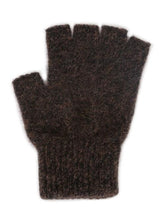 Load image into Gallery viewer, Brown Marl Open Finger Glove