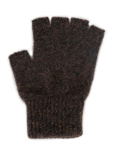 Brown Marl Open Finger Glove