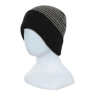 Black reversed Double Layer Beanie - Reversible