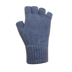 Light Blue Open Finger Glove