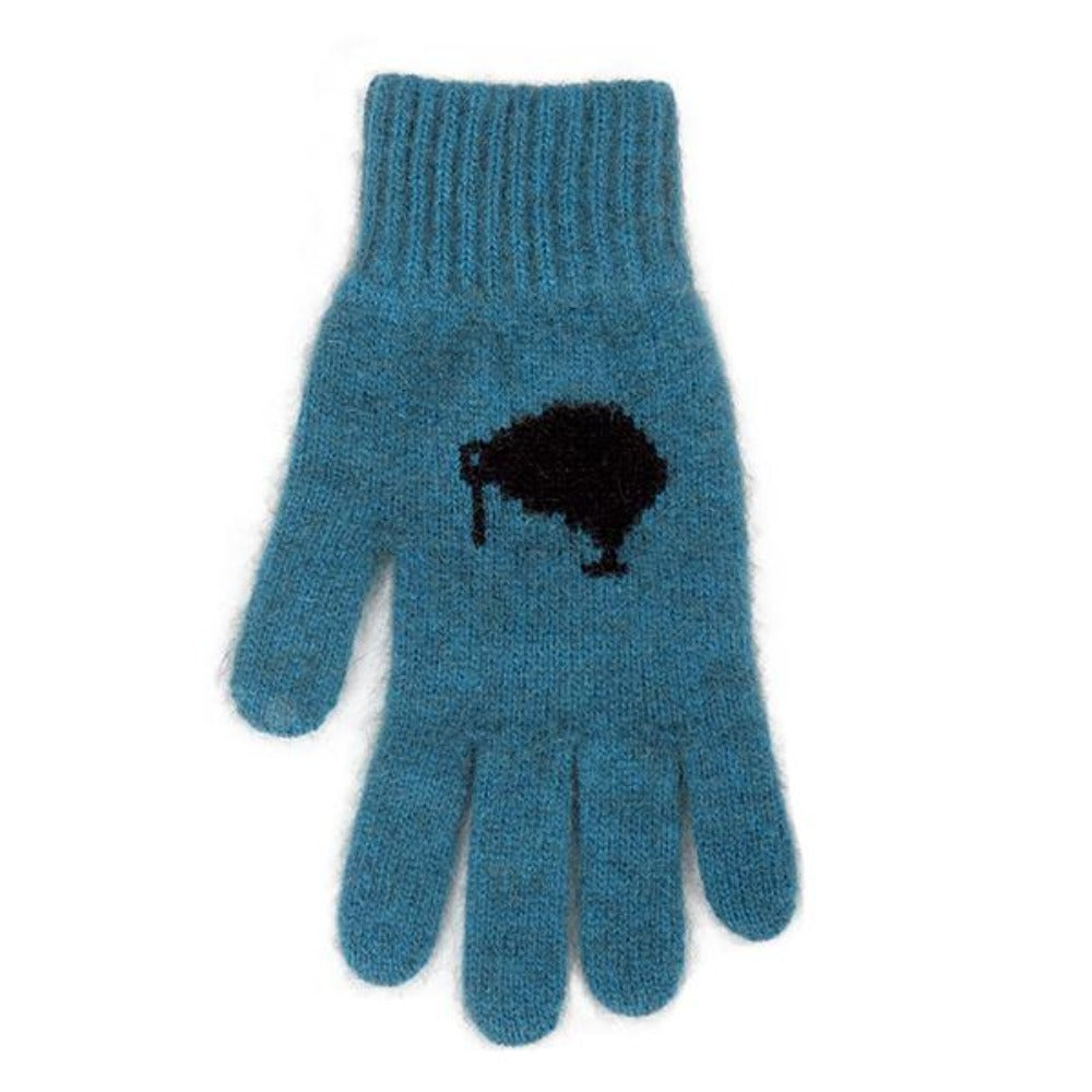 Teal/Black Icon Kiwi Gloves