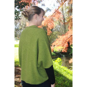 Olive back view Weka Cape