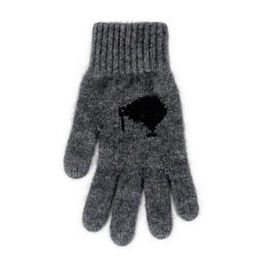 Charcoal/Black Icon Kiwi Gloves
