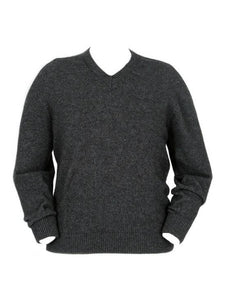 Charcoal Men's Plain V Neck Jumper