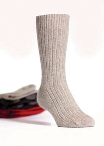 Mocha Ribbed Socks