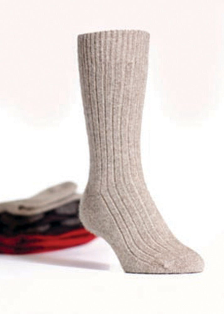 Mocha Ribbed Socks Possum and Merino  Ribbed Socks  40% possum fur, 50% merino lambswool & 10% mulberry silk.