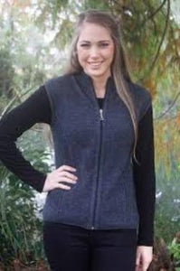 9978 Zip Vest with Rib Detail