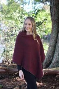 Two toned fully reversible possum and merino poncho