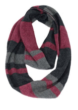 Load image into Gallery viewer, Moss stitch, striped loop scarf