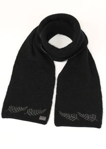 Stunningly subtle Fern Scarf. Luxuriously warm and matched with a double thickness Beanie KO209.