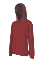 Load image into Gallery viewer, Woman's Striped Hoodie.  Rugged outdoor wear.