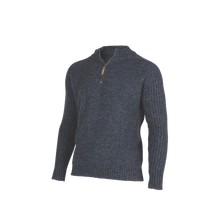 Load image into Gallery viewer, Rib and Plain Zip and Collar Sweater.   Rugged outdoor wear.