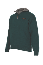 Load image into Gallery viewer, Mens 36.6° (unique double layer) Zip and Collar Sweater  A unique double layer system has been developed to help you maintain your optimum body temperature (36.6) in any situation.  Products using this dual layer system are high performance, and designed to suit an active, outdoor lifestyle.  Rugged outdoor wear.