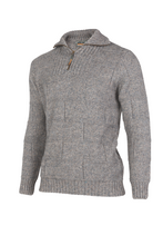 Load image into Gallery viewer, Zip and Collar Purl Stitch Sweater.   Rugged outdoor wear.
