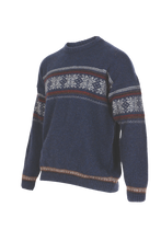 Load image into Gallery viewer, Crew Neck Jacquard Sweater.   Rugged outdoor wear.