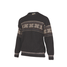 Load image into Gallery viewer, Crew Neck Jacquard Sweater.  Rugged outdoor wear