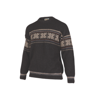 Crew Neck Jacquard Sweater.  Rugged outdoor wear