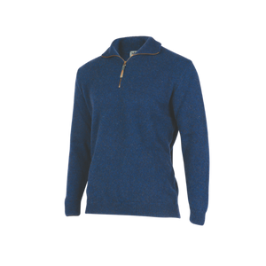 Half Zip Plain Knit Sweater.  Rugged outdoor wear