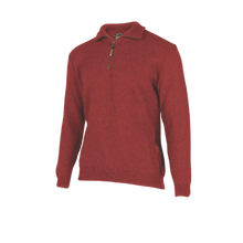 Load image into Gallery viewer, Half Zip Plain Knit Sweater.  Rugged outdoor wear
