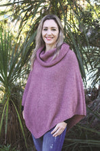 Load image into Gallery viewer, Pink Cowl Neck Poncho