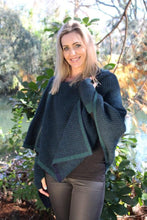 Load image into Gallery viewer, Zip Edge Wrap / Poncho Tasman/Midnight
