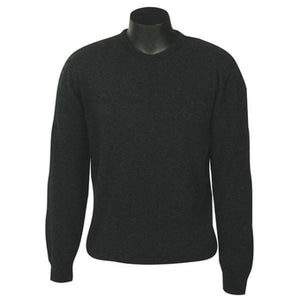 Charcoal Crew Neck Plain Knit Sweater