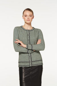 Mint / Pewter Two Tone Button Cardigan