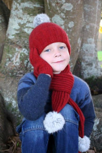 Boys Possum Merino Cottontail Scarf