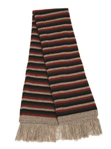 Natural Multi Striped Scarf
