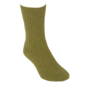 Olive Casual Rib Sock