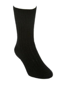 Black Casual Rib Sock