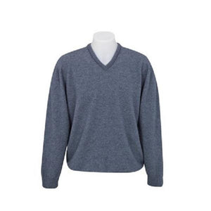 Sky Vee Neck Plain Knit Sweater