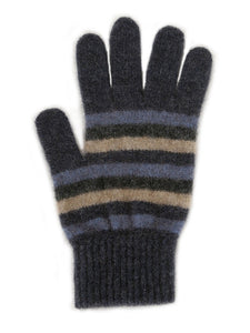 Denim Multi Striped Glove