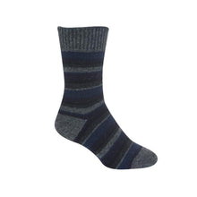 Load image into Gallery viewer, Graphite Striped Sock