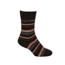 Load image into Gallery viewer, Charcoal Striped Sock
