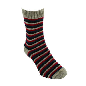 Natural Multi Striped Sock